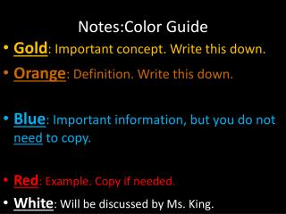 Notes:Color Guide