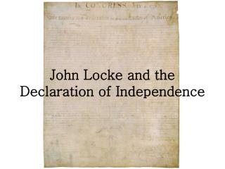 John Locke and the Declaration of Independence