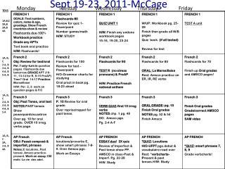 Sept 19-23, 2011-McCage
