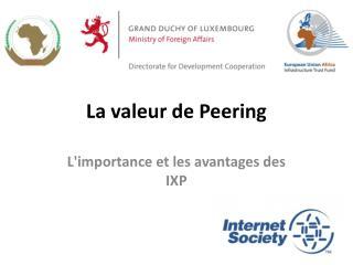 La valeur de Peering