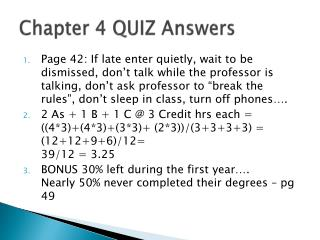 Chapter 4 QUIZ Answers