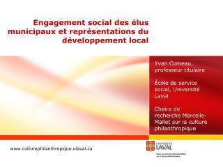 Engagement social des élus municipaux et représentations du développement local