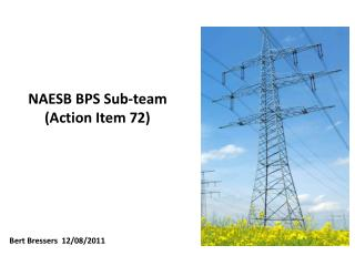 NAESB BPS Sub-team (Action Item 72)