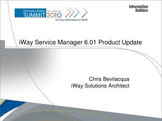 iWay Service Manager 6.01 Product Update
