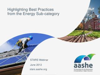 Highlighting Best Practices  from the Energy Sub-category