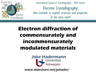 Electron diffraction  of  commensurately  and  incommensurately modulated materials