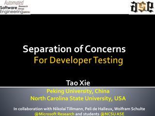 For Developer Testing