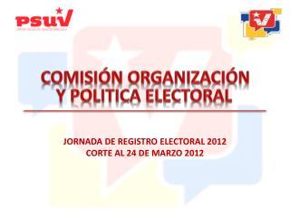 COMISIÓN ORGANIZACIÓN Y POLITICA  ELECTORAL
