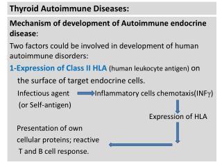 Thyroid Autoimmune Diseases: