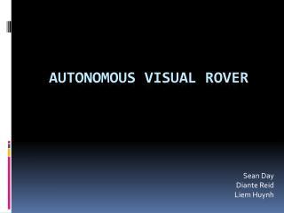 Autonomous Visual rover