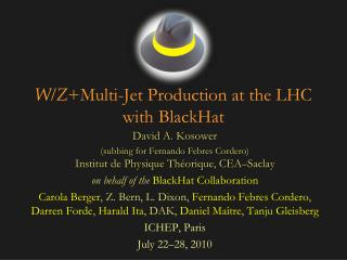 W/ Z +Multi -Jet Production  at  the LHC with  BlackHat