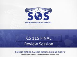 CS 115  FINAL  Review Session