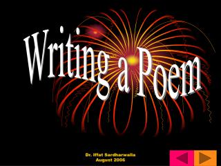 This week WALT  Plan, Write and Refine Poems