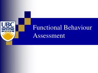 Functional Behaviour Assessment