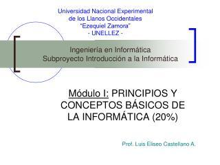 """Universidad Nacional Experimental de los Llanos Occidentales """"Ezequiel Zamora"""" - UNELLEZ -"""