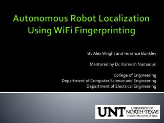 Autonomous Robot Localization Using WiFi Fingerprinting