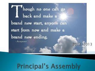 Principal's Assembly