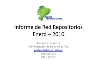 Informe de Red Repositorios Enero – 2010