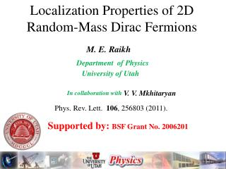 Localization Properties of 2D Random-Mass Dirac Fermions