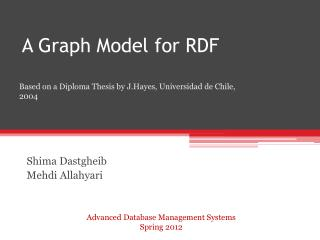 A Graph Model for RDF