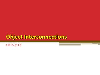 Object Interconnections