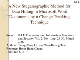 Source: IEEE Transactions on Information Forensics  and Security, Vol. 2, No. 1, pp. 24-30, March