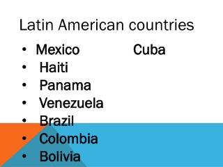 Latin American countries