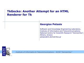 TkGecko : Another Attempt for an HTML Renderer for  Tk