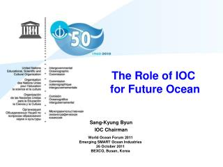 The Role of IOC     for Future Ocean