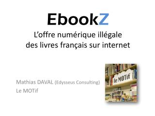 Ebook Z L'offre numérique illégale  des livres français sur internet