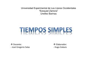 """Universidad Experimental de Los Llanos Occidentales """"Ezequiel Zamora"""" Unellez  Barinas"""