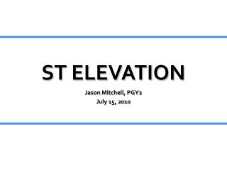 ST ELEVATION