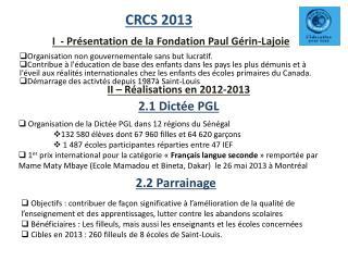 CRCS 2013