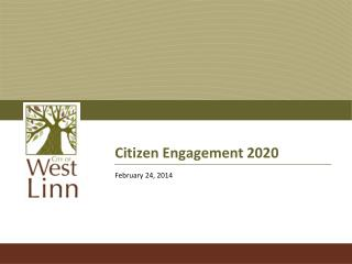 Citizen Engagement 2020