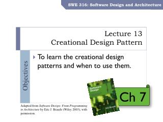 Lecture 13 Creational Design Pattern