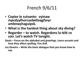 French 9/6/11