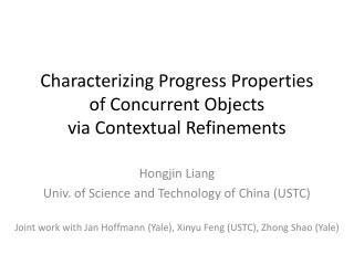 Characterizing Progress Properties  of Concurrent Objects  via Contextual Refinements