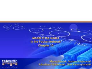 Model of the  Nodes in the  Packet  Network Chapter  10