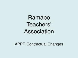 Ramapo  Teachers' Association