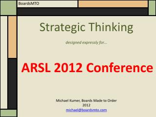 ARSL  2012 Conference