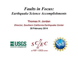 Faults in Focus: Earthquake Science Accomplishments