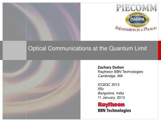 Optical Communications at the Quantum Limit