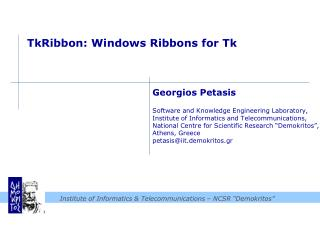 TkRibbon : Windows Ribbons for Tk