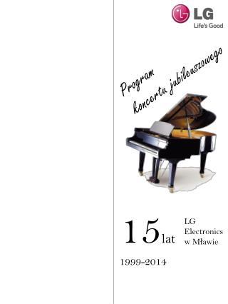 Program koncertu jubileuszowego