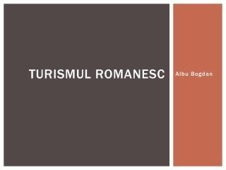 Turismul romanesc