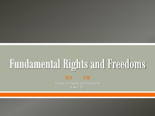Fundamental Rights and Freedoms