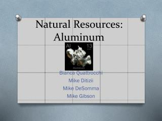 Natural Resources: Aluminum