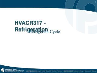 HVACR317 - Refrigeration