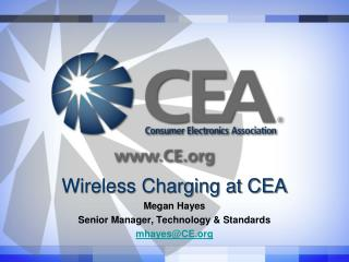 Wireless Charging at CEA