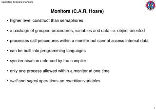 Monitors C.A.R. Hoare